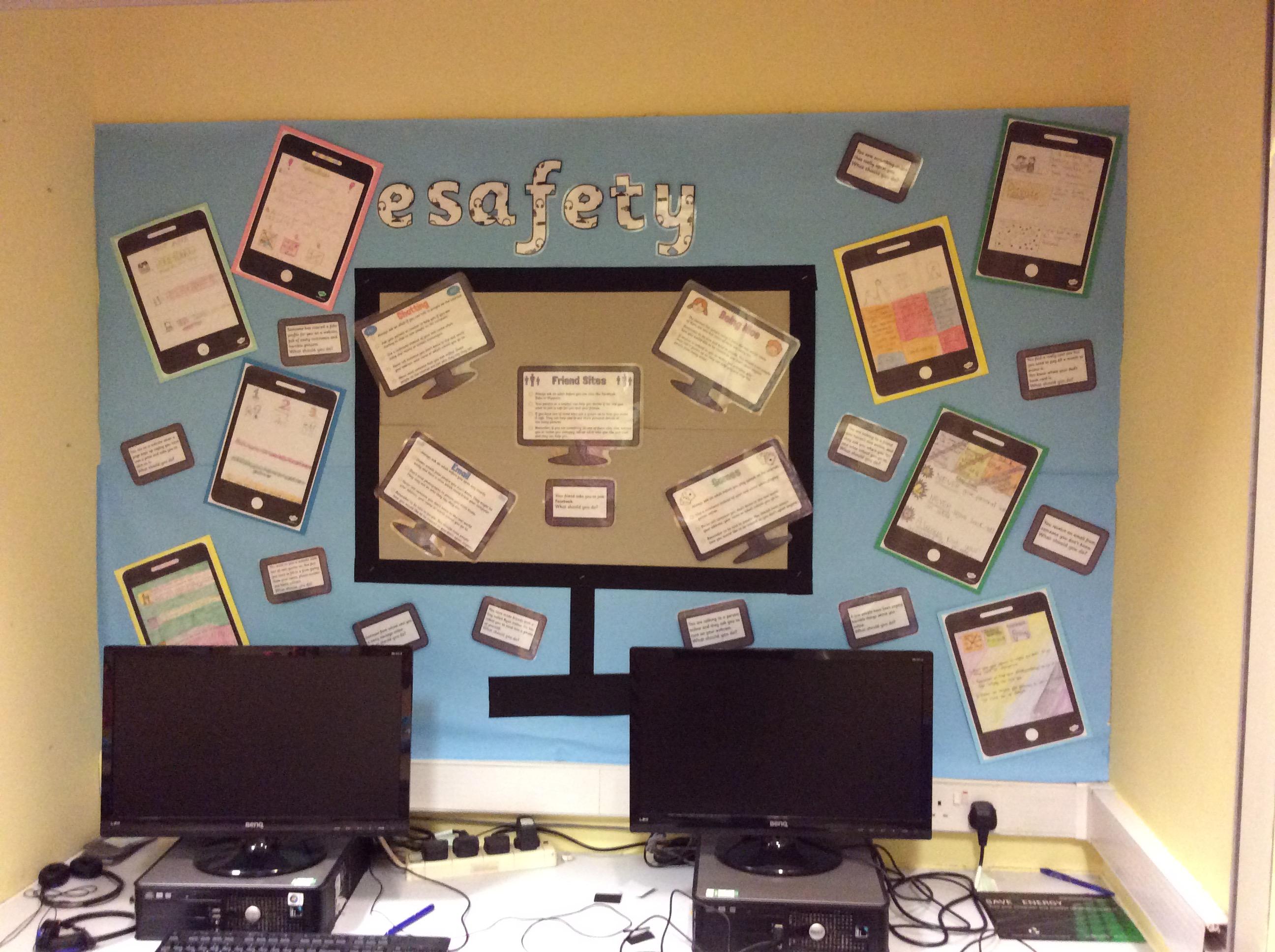 Ict Classroom Ideas ~ Display ideas esafety alittlebutalot
