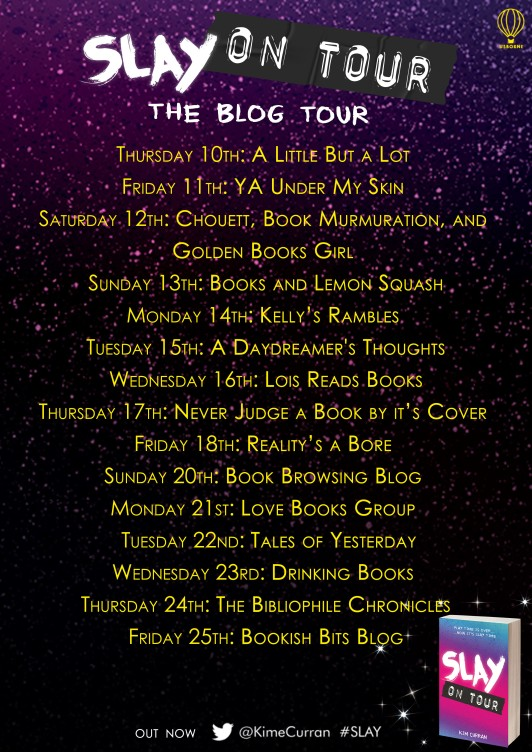 slay on tour blog tour