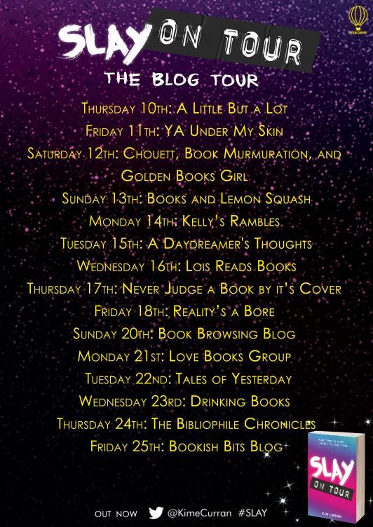slay on tour blog tour
