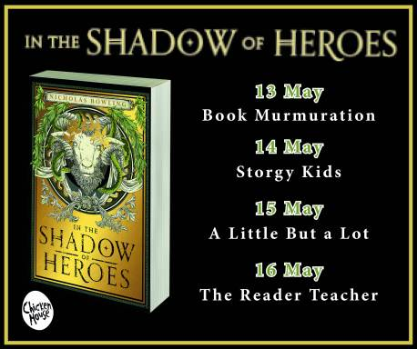 In the Shadow of Heroes blog tour banner