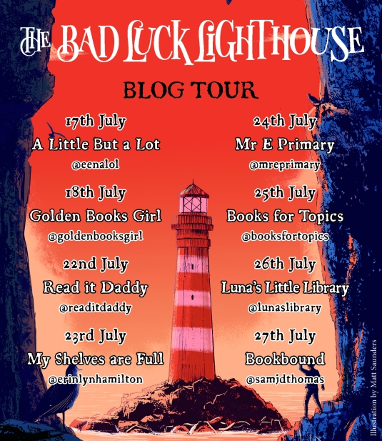 Bad Luck Lighthouse blog tour banner