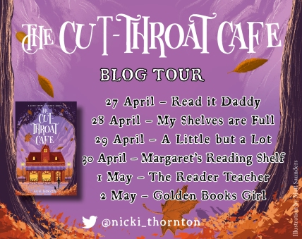 Cut Throat Cafe blog tour banner